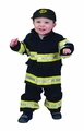 Jr. Fire Fighter Suit, Size 18 Month (black)