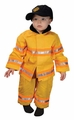 Jr. Fire Fighter Suit, Size 18 Month (yellow)