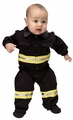 Jr. Firefighter Suit (black), size 6/12M