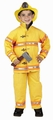 Jr. Firefighter Suit for a Child in Yellow