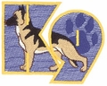 K-9 Logo Embroidery