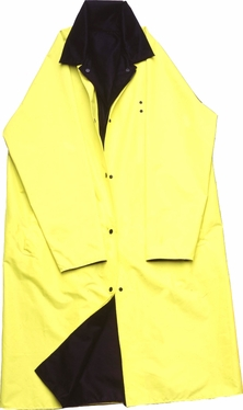 Knee Length Police Raincoat Reversible Color