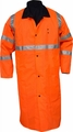 Knee Length Police Raincoat Reversible Orange to Black