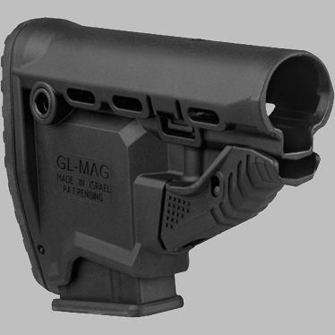 M4/AR-15 SURVIVAL BUTTSTOCK W/BUILT-IN MAGAZINE CARRIER - GL-MAG