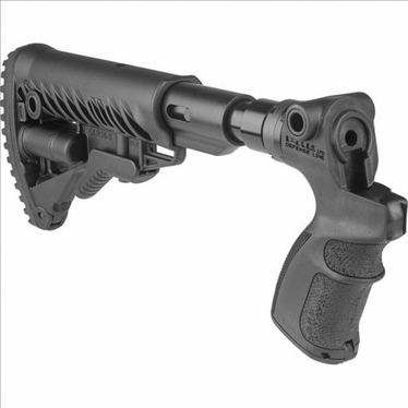 M4-STYLE RECOIL-REDUCING COLLAPSIBLE BUTTSTOCK FOR MOSSBERG 500/590 - AGM500-FKSB