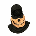 Majestic Apparel Fire Ink Glow In The Dark Orange Skull Hood