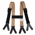 Majestic Bunker Pants Tan Suspenders