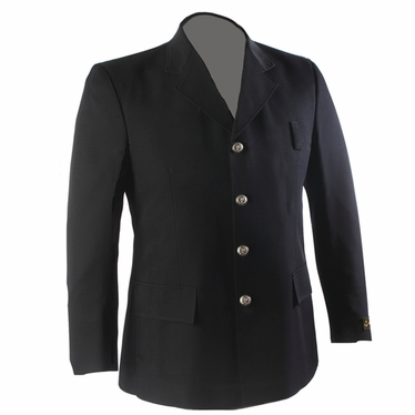 "Men's 32"" Hip Length Single Breasted Dress Coat-Poly/Wool Blend"