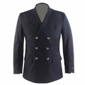 Mens 32″ Hip Length Double Breasted Dress Coat Polyester