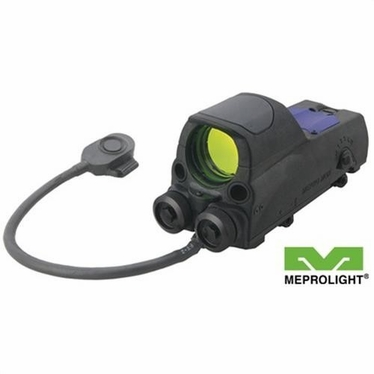 MEPRO MOR TRI-POWERED REFLEX SIGHT WITH RED LASER POINTER-BULLSEYE