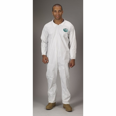 MicroMax NS Coverall, Zipper closure, elastic wrists and ankles, 25/Case