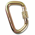 "Modified D 1/2"" Steel Screw-Lok Carabiner"