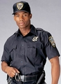 NAVY BLUE SHORT SLEEVE GENUINE POLICE AND SECURITY ISSUE UNIFORM SHIRTS