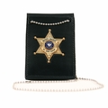 Boston Leather Neck Chain ID and Badge Holder (Foldover Design)