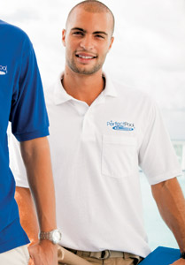 Outer Banks Blended Jersey Knit Pocket Polo