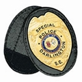Boston Leather Oval Holder w/ Recessed Badge Cutout