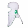 Majestic Apparel PAC II White Irish Pride Specialty Hood w/ Shamrock