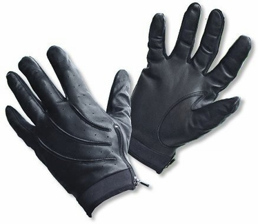 Patrolman's Leather Glove with Zipper Closure