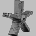 PENTAGON MAGAZINE COUPLER FOR FIVE 10RD ULTIMAG MAGAZINES WITH FIVE ULTIMAGS