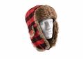 Plaid Fur Flyer's Hat