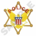 Police 6 Point Star Embroidery