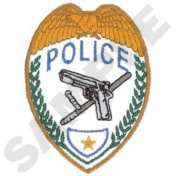 Police Badge Embroidery