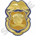 Police Badge Embroidery Large