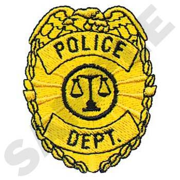 Police Dept Badge Embroidery
