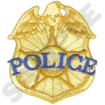 Police Logo Badge Embroidery