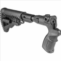 RECOIL-REDUCING FOLDING COLLAPSIBLE BUTTSTOCK FOR MOSSBERG 500/590 - AGMF500-FKSB