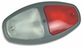 Weldon Red/Clear Interior Lamp, Push Lens (8080-8081 SERIES)