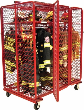 Red Rack Freestanding Double Sided Gear Storage