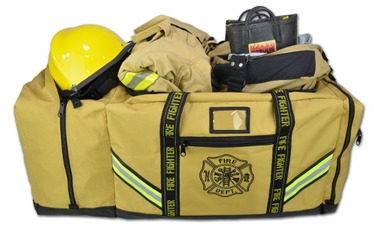 Ripstop 3XL Firefighter Step-In Turnout Gear Bag & Helmet Compartment