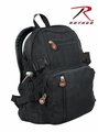 Rothco Black Vintage Compact Backpack