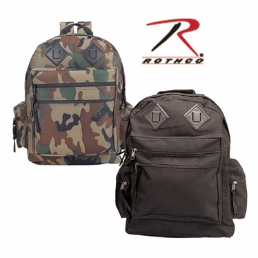 Rothco Deluxe Black Waterproof Nylon Day Pack