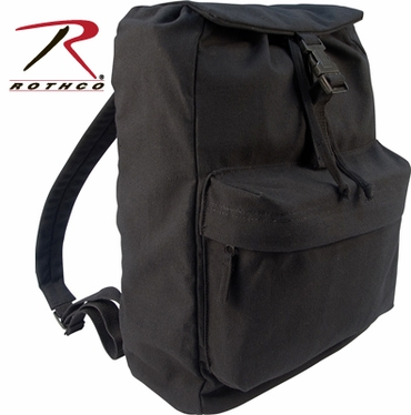 Rothco Heavyweight Black Canvas Day Pack