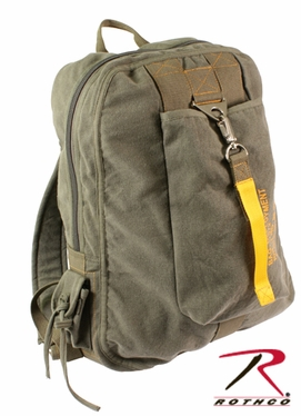 Rothco Olive Drab Vintage Canvas Flight Bag