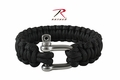 Rothco Paracord Black Bracelet With D-Shackle