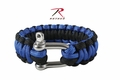 Rothco Paracord Blue Bracelet With D-Shackle