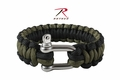Rothco Paracord Olive/Black Bracelet With D-Shackle