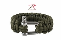 Rothco Paracord Olive Bracelet With D-Shackle
