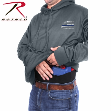 Rothco Thin Blue Line Concealed Carry Gray Hoodie