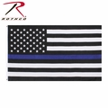 Rothco Thin Blue Line U.S. Flag 2' x 3' or 3' x 5'