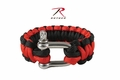 Rothco Thin Red Line Paracord Red Bracelet With D-Shackle