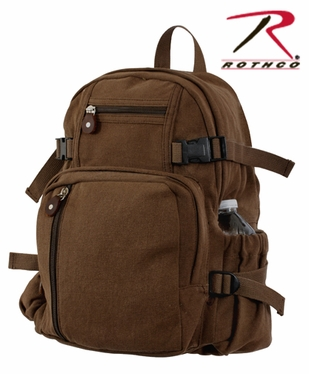 Rothco Vintage Brown Compact Backpack