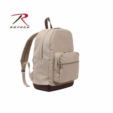 Rothco Vintage Canvas Teardrop Backpack w/ Leather Accents