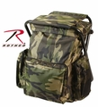 Rothco Woodland Camo Backpack & Stool Combination