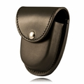 Boston Leather Rounded Bottom XL Handcuff Case w/ Snap Closure