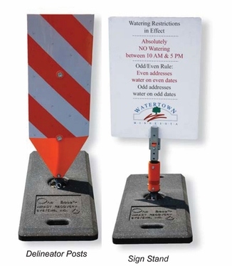 Rubber Base System Sign Stands