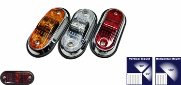 "TecNiq S17 PC/P2 Rated 2.5"" Sidemarker Marker Light"